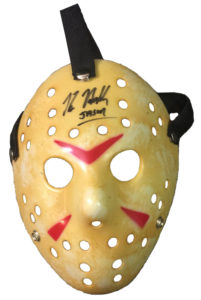 Hockey mask autographed by Kane Hodder Jason Voorhees Friday the 13th