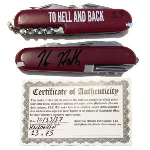 Limited Edition Kane Hodder Signed Pocket Knife